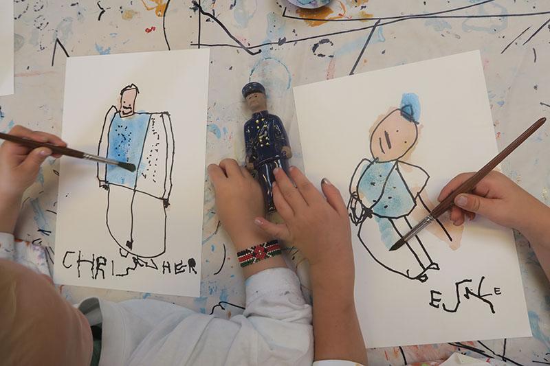 Kunstprojekter for børn Britta Johanson