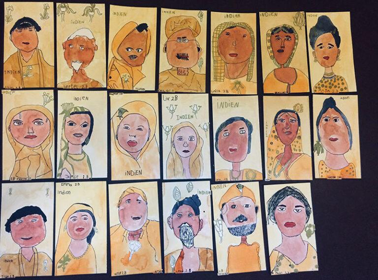 150 børn maler hele verden